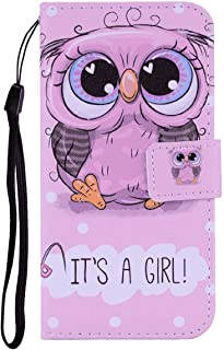 Flip Case for iPhone X, cute owl PU Leather Wallet Cover (Compatible with iPhone X)