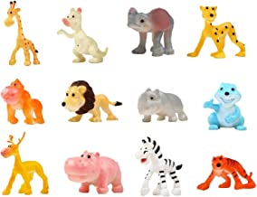 SUPER TOY Jungle Cartoon Animal Toys Figure Playing Set for Kids (Pack of 12)
