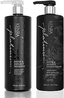 Kenra Detox & Deflect Shampoo and Conditioner Set, 31.5-Ounce