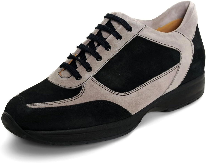 Quid Men's Black and Grey Italian Suede shoes