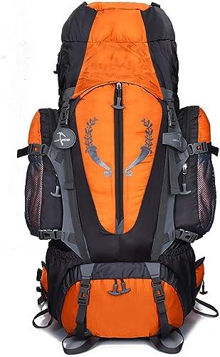 MOREJUN Sac à Dos de randonnée, Sac à Dos d'alpinisme en Plein air léger à Dos de vélo Escalade Voyage Sports Daypack Camping Trekking Sac à Dos avec Housse de Pluie imperméable,Orange