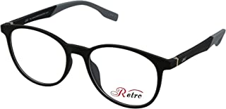 RETRO Unisex-adult Spectacle Frames Round 3019 M.Black/Grey