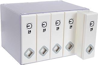 Fasmov 120 Discs Total CD/DVD Box Polypropylene Sleeve Disc Organizer