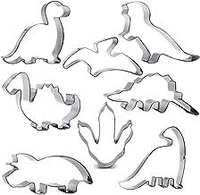 Juego de cortador de galletas de dinosaurio, 8 piezas, Brontosaurus, Camarasaurus, Stegosaurus, Concavenator, Triceratops, Pterodactyl, Baby Dinosaur y Dinosaur Footprint para niños