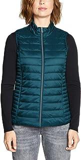 Dilgul Damen /Ärmelloses Weste Gesteppt Stehkragen Ultraleicht Winter Bodywarmer Knopf Steppweste