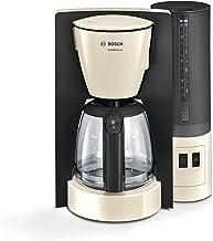 Bosch TKA6A047 Comfortline Koffiezetapparaat, 1200 Watt, Glazen Kan, Automatische Uitschakeling, Crème/Zwart Grijs