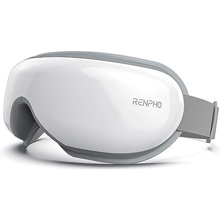 RENPHO エア アイウォーマー 最新グラフェン加熱技術 目元エステ 5つのモード切り替える ホットアイマスク USB充電 男女兼用 音声ガイドあり アイケア ギフト プレゼント 180°折り畳み可能 職場休憩/出張/旅行しても持ち運び便利 目もとケア Wireless使用 白…