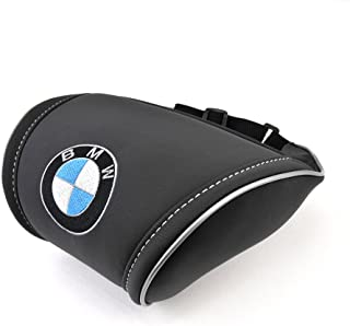 Black Neck Support Pillow Headrest Neck Cushion with Embroidered Emblem Car Interior Accessories Compatible for BMW Great idea for a Gift to The Driver!