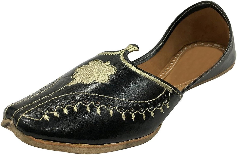 Step n Style Black Men Vintage Look Handmade Leather Khussa shoes Indian Aladdin Juttis