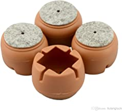 Okayji Silicone Durable Flexible Anti-Slip Anti-Scratch Noise Reducer Floor Protection Soft Cover Caps Pads for Chair Legs, 24-42mm, 4-Pieces Set