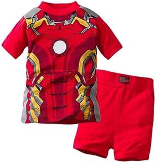 منامات للأولاد 100% قطن Spiderman شورت أطفال دافئ صالح PJs الصيف ملابس نوم طفل