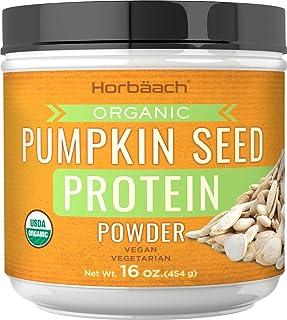Pumpkin Seed Protein Powder Organic | 16 oz | Vegan, Vegetarian, Gluten Free, Non-GMO | by Horbaach