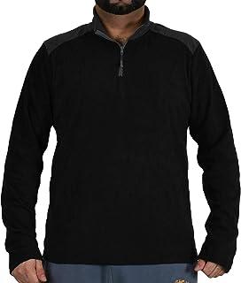True Face Mens Sweat Shirt Zip Neck Sweater Polar Fleece Thermal Winter Top