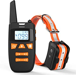 Haliluya Shock Collar for Dogs, Rechargeable 100% Waterproof Dog Training Collar,2000FT Range Dog Shock Collar with Remote, 3 Modes Beep/Vibration/Shock Collar for Small Medium Large Dogs,All Breeds