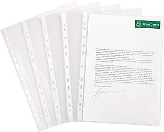 Exacompta - Réf. 5900E - 1 boîte de 100 pochettes perforées polypropylène lisse haute résistance - épaisseur 9/100ème - pe...