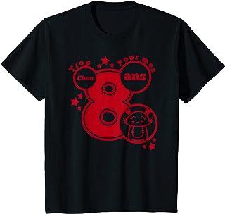 Enfant cadeau anniversaire 8 ans humour - trop chou pour mes 8 ans T-Shirt