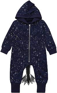 Infant Baby Boys Girls Long Sleeve Cartoon Animal Print Romper Jumpsuit Clothes Sannysis 0-3 Months Baby Boy Clothes