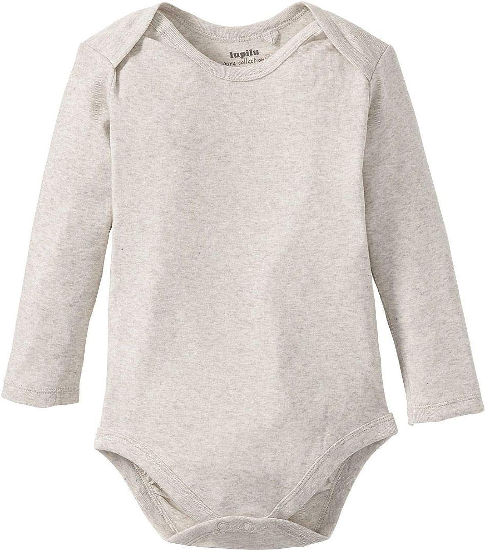 2er Pack 100/% Bio-Baumwolle lupilu M/ädchen Baby Bodys Langarm