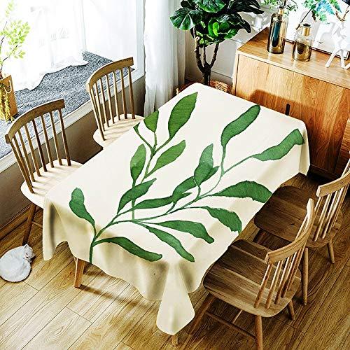 XXDD 3D Plantas Verdes Hoja de plátano patrón Mantel pájaro de Dibujos Animados impresión Digital Cubierta de Mantel Impermeable A7 135x160cm