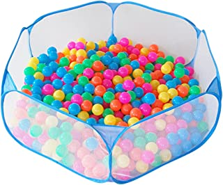 Jacone Portable Cute Blue Hexagon Children Ball Pit, Indoor and Outdoor Easy Folding Ball Play Pool Kids Toy Play Tent with Carry Tote, Balls Not Included