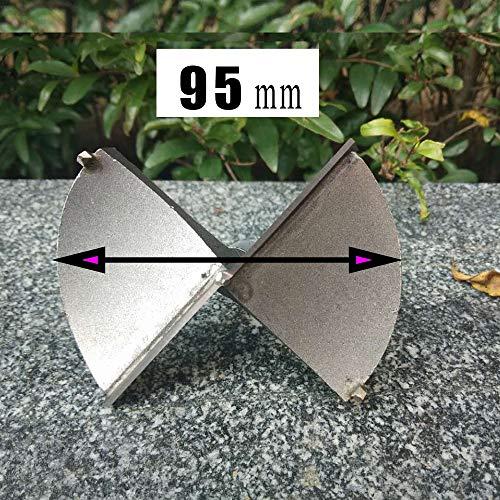 KAIBINY Taladro de 1pcs 50-100mm Forstner Taladro Boring bits carpintería autocentrado Sierra de perforación de carburo de tungsteno Herramientas de Corte de Madera (Color : 95mm)
