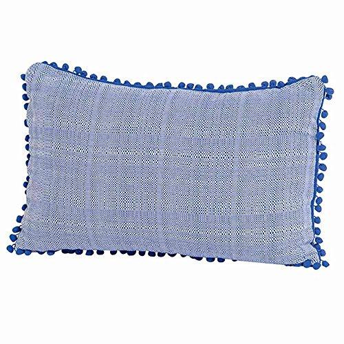 Madison 7PIL4G064 Tweet sierkussen 40 x 60 cm, 100% katoen, blauw
