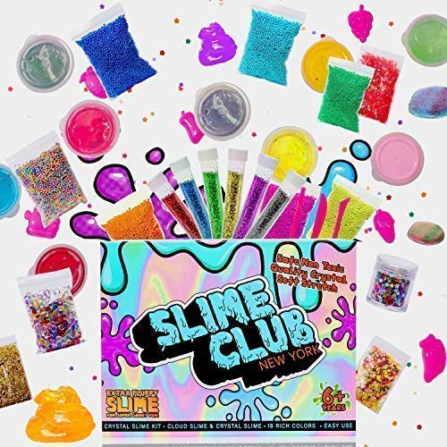 Slime Kit Supplies – Slime Kits for Kids Girls and Boy - Comes with Add-in Accessories Including Slime Beads, Slime Charms, Slime Glitter, & Other Slime Decoration Packs – Includes 18