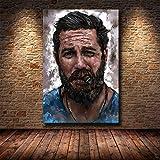 wZUN Actores de Cine y televisión británicos póster de Personajes HD Lienzo Pintura decoración del hogar 60x80 Sin Marco