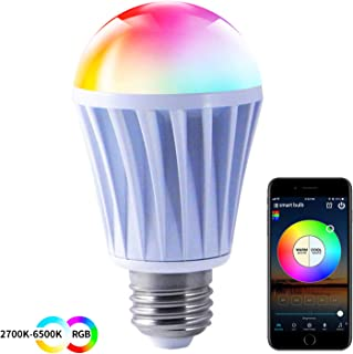 HaoDeng Smart LED WiFi Light Bulb,e27 a19 Edison 7.5W Bulb-Timer & Sunrise & Sunset- Dimmable, Multicolor, Warm White - No Hub Required, Compatible with Alexa, Google Home Assistant and IFTTT