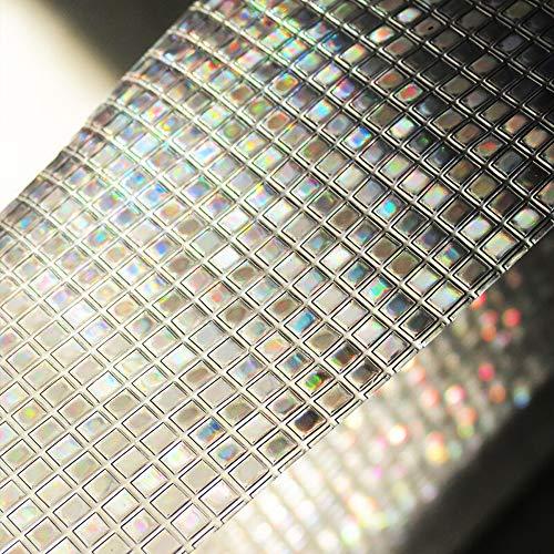 Coavas Rainbow Window Film 3D Decorative Window Film Translucent Window Film Non-Adhesive Privacy Window Film 17.5 by 78.7 Inches GF45-02-35