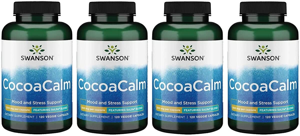 Swanson Cocoacalm We OFFer at cheap prices 120 Veg 4 Capsules Pack New popularity