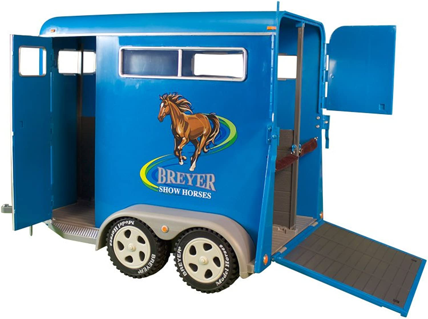 Breyer Traditional Series TwoHorse Trailer Toy (1  9 Scale), Multicolor