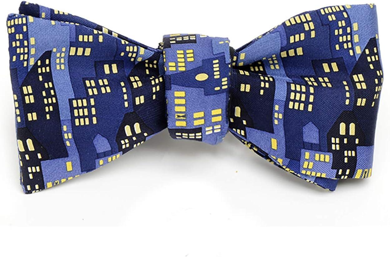 Direct stock discount Josh Don't miss the campaign Bach Men's City Lights Scape Silk Self-Tie Ma Bow Tie