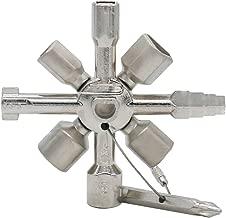 ZXHAO Multi-Function Electric Control Cabinet Internal Triangle Key Wrench 10 one Cross Key. (Ten in one Key)