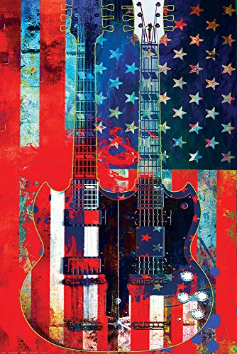 Gitarren - Poster - Doubleneck American + Ü-Poster