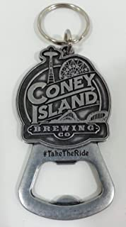 """Coney Island Brewing Company""""Take the Ride"""" Metal Keychain/Bottle Opener"""