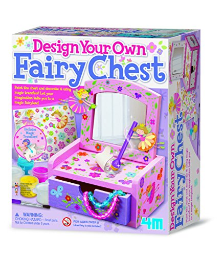 4M - Paint & Make Your Own Fairy Mirror Chest, Juego de