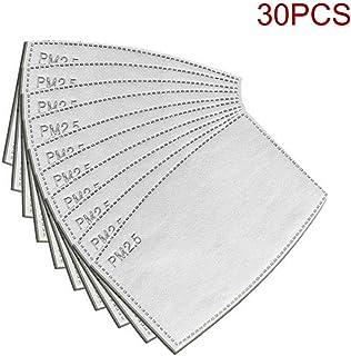 Helmay 10/30/50 stuks PM2.5 beschermfilter 5 lagen verwisselbare anti-haze-filter voor mondmaskers