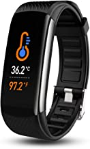 Smart Watch, Fitness Tracker with Body Temperature Thermometer Blood Oxygen Heart Rate Blood Pressure Monitor Sleep Monito...