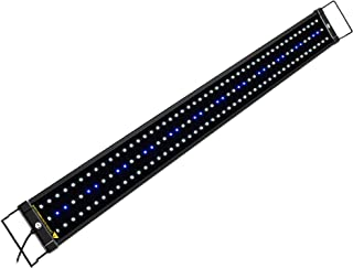 NICREW ClassicLED Aquarium Light, Fish Tank Light with Extendable Brackets, White and Blue LEDs, Size 36 to 48 Inches, 25 ...