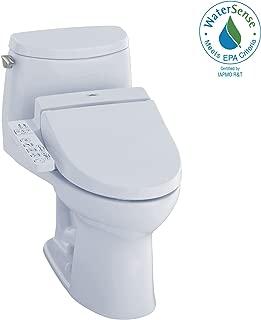 TOTO MW6042034CUFG#01 WASHLET+ UltraMax II 1G One-Piece Elongated 1.0 GPF Toilet and WASHLET C100 Bidet Seat, Cotton White