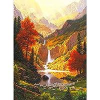 QWEFGDF 塗装キットDIY ペイント番号キット 子供 大人 ーク絵画ギフト装飾 (40x50 cm)森の小川