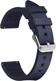 Afany Rubber Watch Band for Samsung Galaxy Watch 3 45mm/Galaxy Watch 46mm, 22mm Sport Replacement Bracelet Strap, Blue, Me...