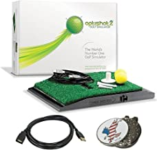 Optishot 2 Golf Simulator (Mac & PC) Bundle | Includes One (1) 15ft USB Extension Cable and 1 American Eagle Golf Ball Marker