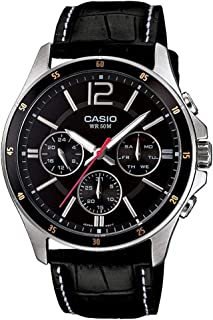 Casio Casual Watch Analog Display for Men MTP-1374L-1AVDF, Black Bansd