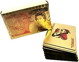 Placcato oro 24 k carte da gioco Poked Deck il 99,9/% in legno scatola regalo