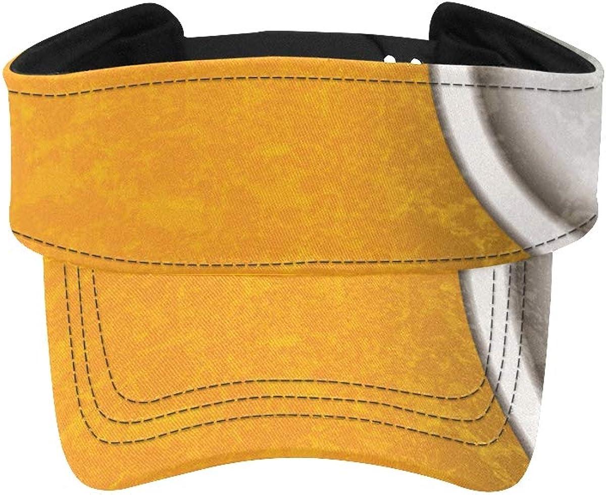 Visor Cap for Reservation Women Abstract Yellow Hats Reservation Close Viso Zipper Steel