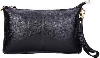حقائب يد نسائية من الجلد الطبيعي حقائب يد صغيرة بحزام كتف حقيبة أنيقة ومحفظة تسوق معصم