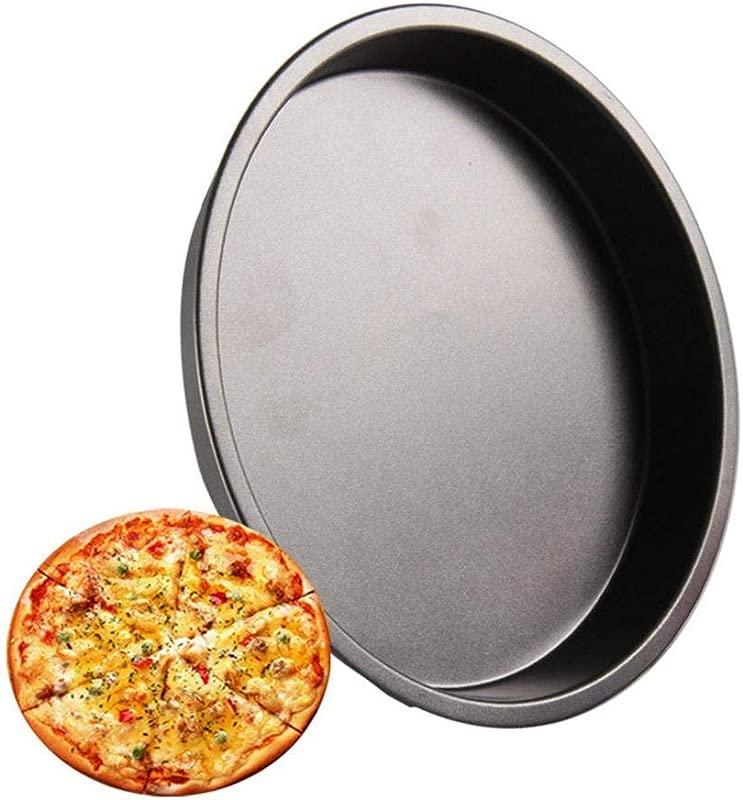 Hamkaw Nonstick Pizza Pan Food Grade Carbon Steel Round Baking Pan Black 6 Inch