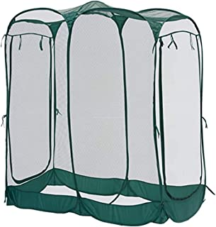 Portable Chicken Cage, Large Monarch Butterfly Habitat Cage Greenhouse Gardening Plant Portable Walking in Tunnel Tent wit...